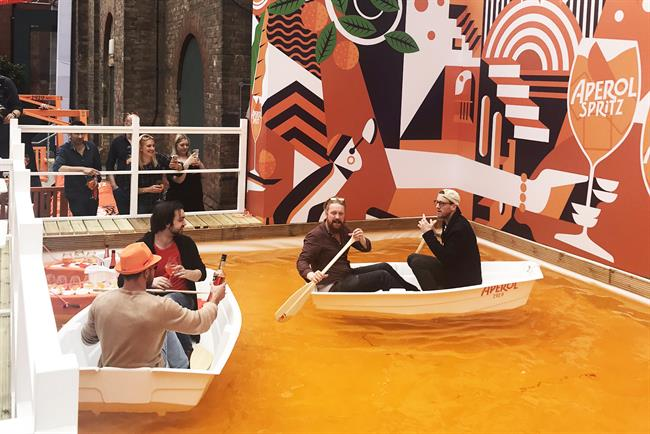Aperol: last year's installation featured an orange canal