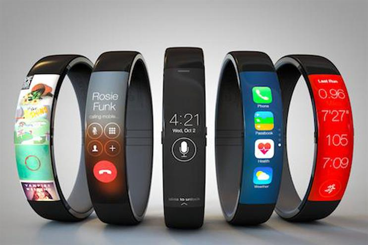 Image iWatch concept: by Todd Hamilton, based on the Nike Fuelband