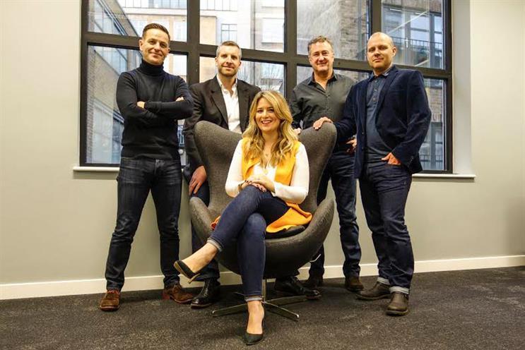 Atomic London (back row L-R): Hill, Goulding, Fox, and Bradbury; Dedman (front)