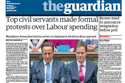 Guardian: free newspaper sampling in London