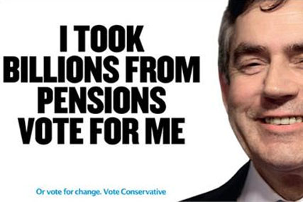 Outdoor: the Tories still use posters