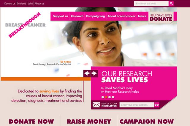Breakthrough Breast Cancer: overhauls website