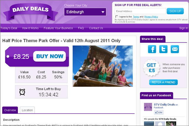 STV: launches Daily Deals for Edinburgh and Glasgow