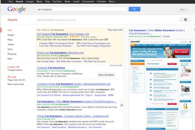 Google: price comparison engine includes sponsored boxes