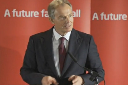 Tony Blair: former PM offers his support for Brown