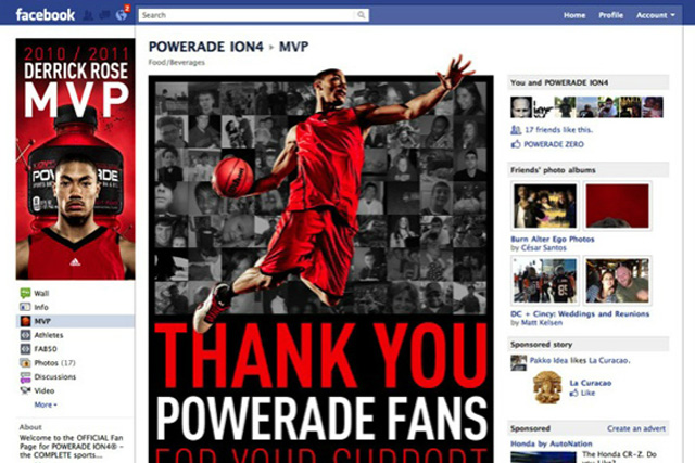 Powerade: Facebook work by Sapient Nitro