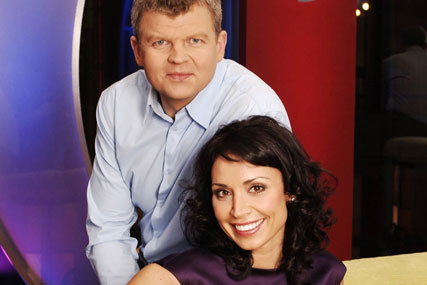 Adrian Chiles and Christine Bleakely: move to ITV