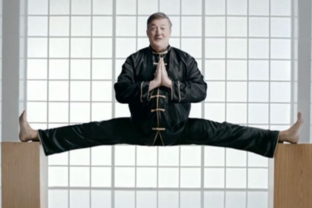 Stephen Fry: stars in martial arts-themed TiVo ad for Virgin Media