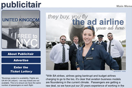 Publicitair: sells space on its planes