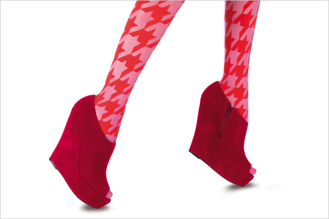 House of Holland: the fashion label's houndstooth tights
