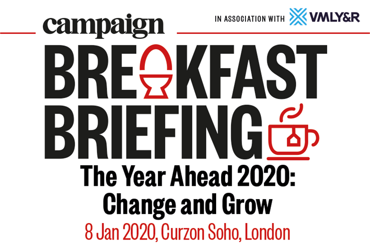 Campaign Breakfast Briefing: The Year Ahead: Change & Grow |  8 January 2020