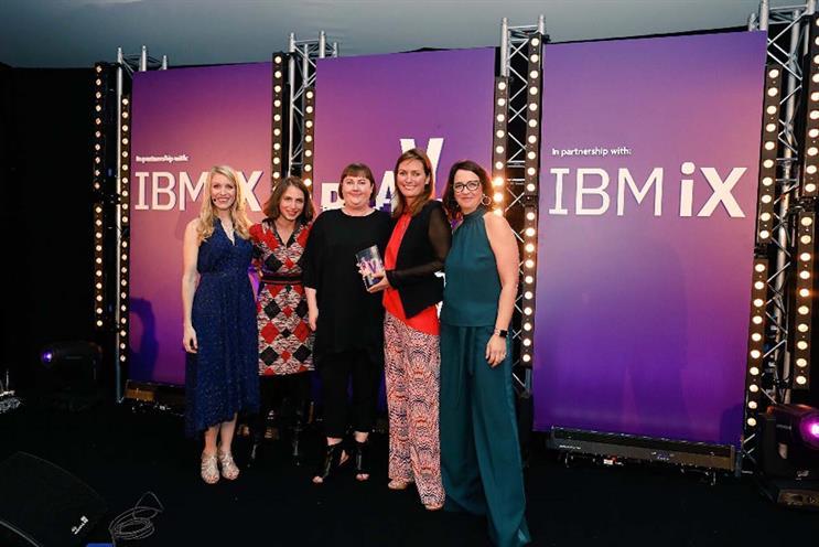 Bodyform marketing team collect the award