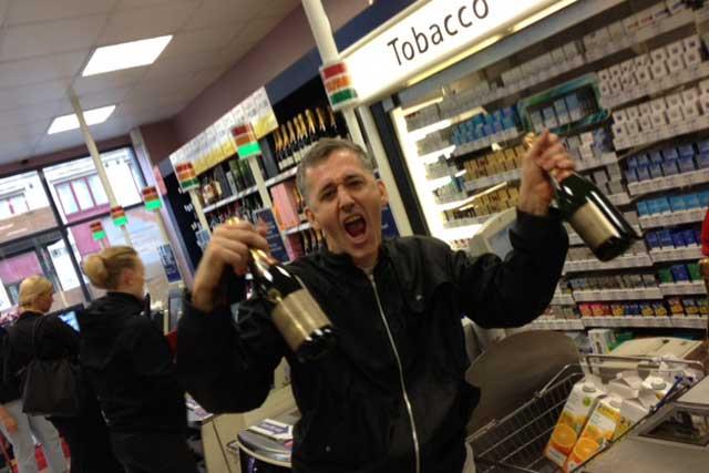 Jubilant Tony Davidson