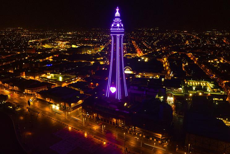 HMD: The Blackpool Tower went purple for the national moment