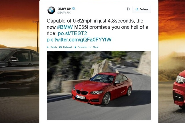 BMW: tweet promoting M235i model banned by ASA