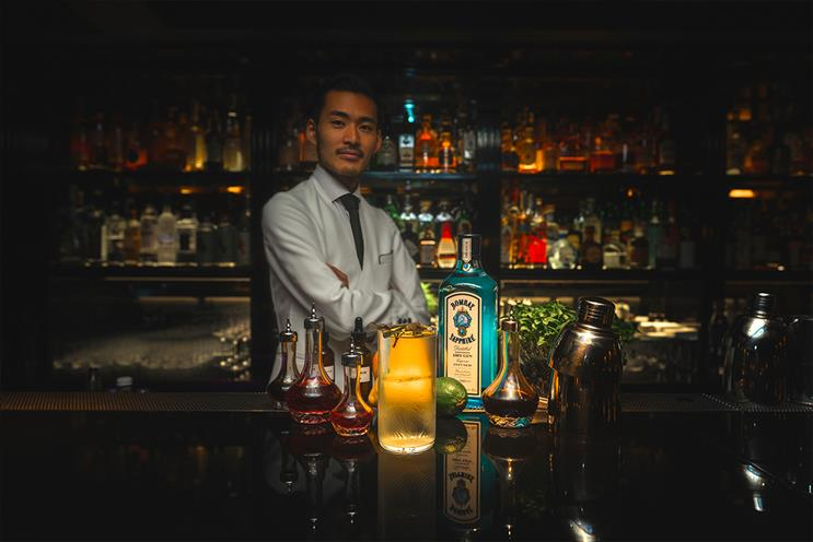 Bombay Sapphire: guest bars create cocktails