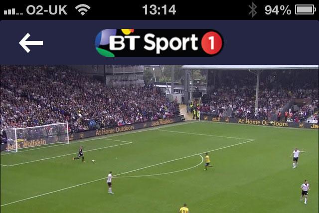 BT Sport app: set to pass one million downloads