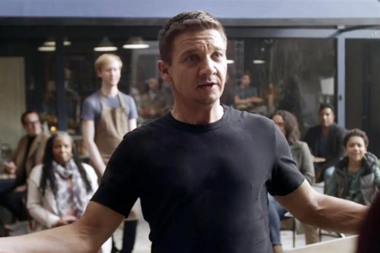 Jeremy Renner: starred in recent ad for BT Mobile