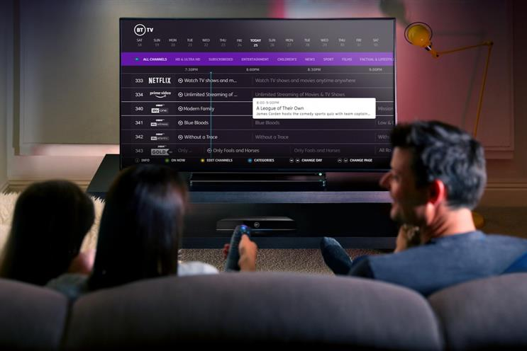 BT: creating more flexible packages for TV viewers