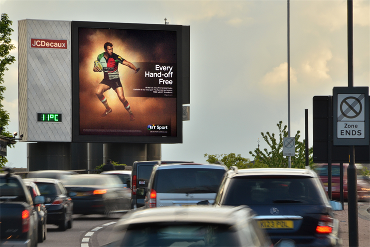 BT: became the fifth-biggest spender in outdoor in the second quarter as it promoted BT Sport