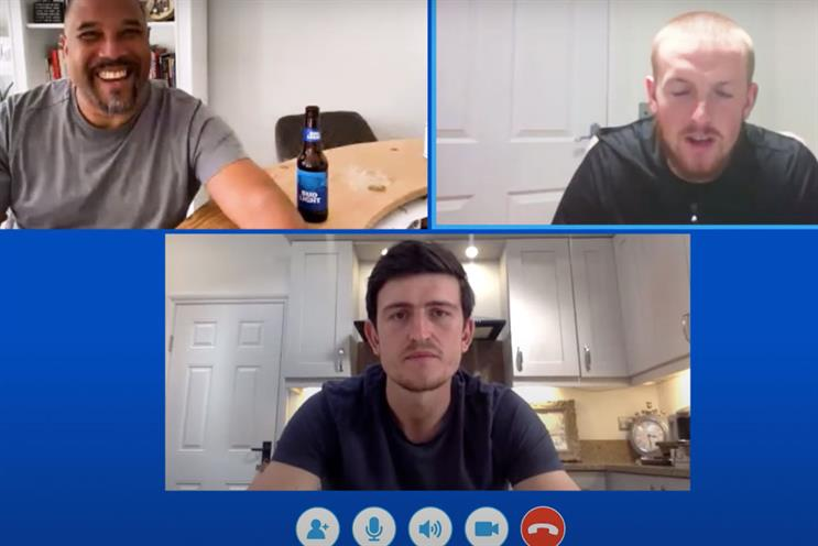Bud Light: Barnes, Pickford and Maguire appear in promo video