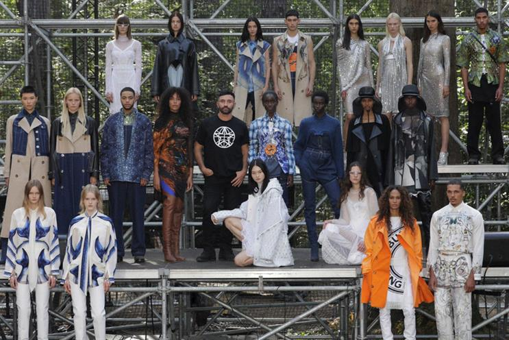 Burberry: show took place without an in-person audience.