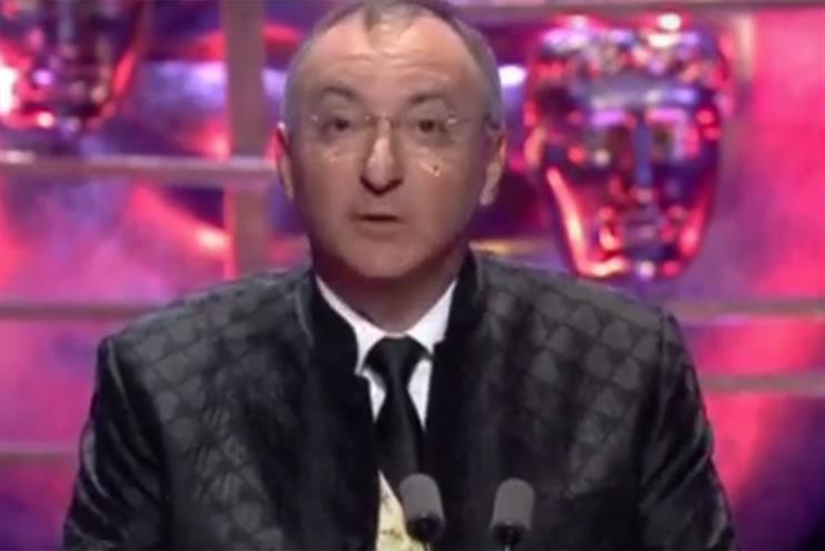 Peter Kosminsky defended the BBC and Channel 4 in his acceptance speech