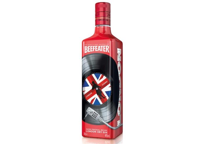 Beefeater: new limited edition gin bottle promoting London Sounds interactive map