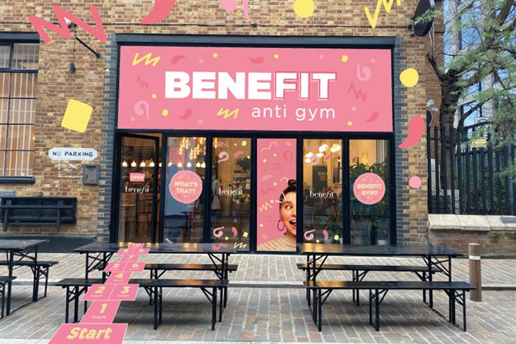 Benefit's Anti-Gym: visitors can book brow waxing and tinting treatments