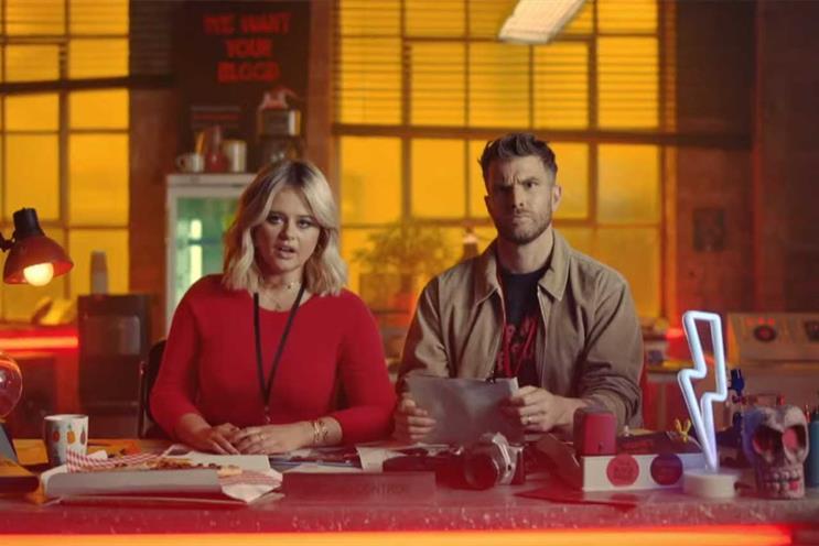 ITV2: work stars Atack and Dommett