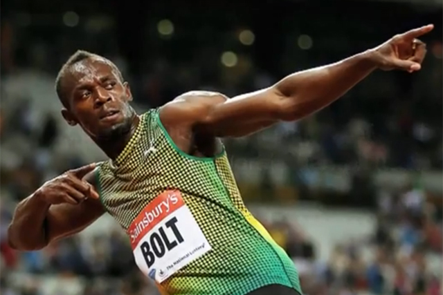 Usain Bolt: competed in the Sainsbury's-sponsored Anniversary Games
