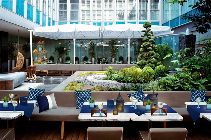 The experience will be housed within the Sanderson terrace