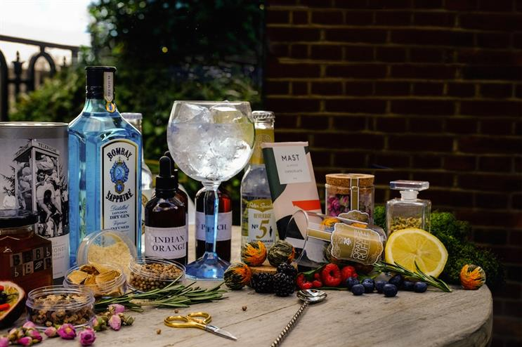 Guests can create their own mixers by combining tonic syrups with soda water