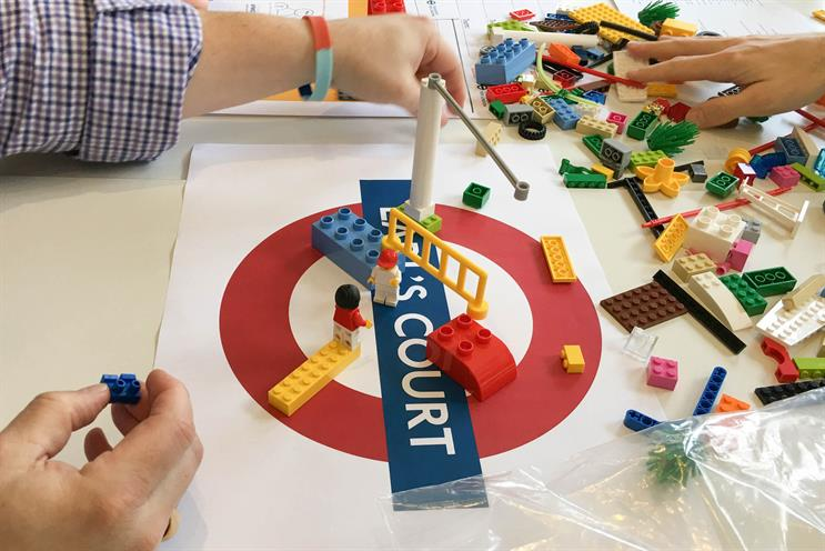 Delegates illustrated 'pain points' for consumers through the medium of Lego