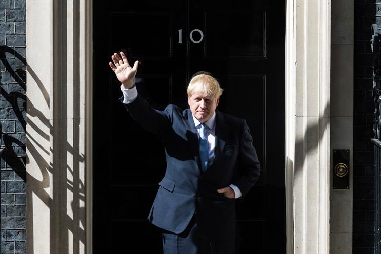 Johnson: staying in number 10 after Conservative win
