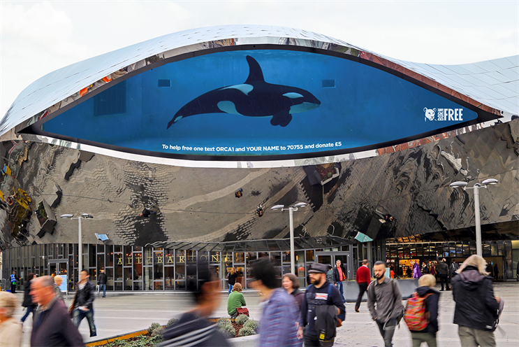 Born Free ran an interactive DOOH campaign to mark World Orca Day last year