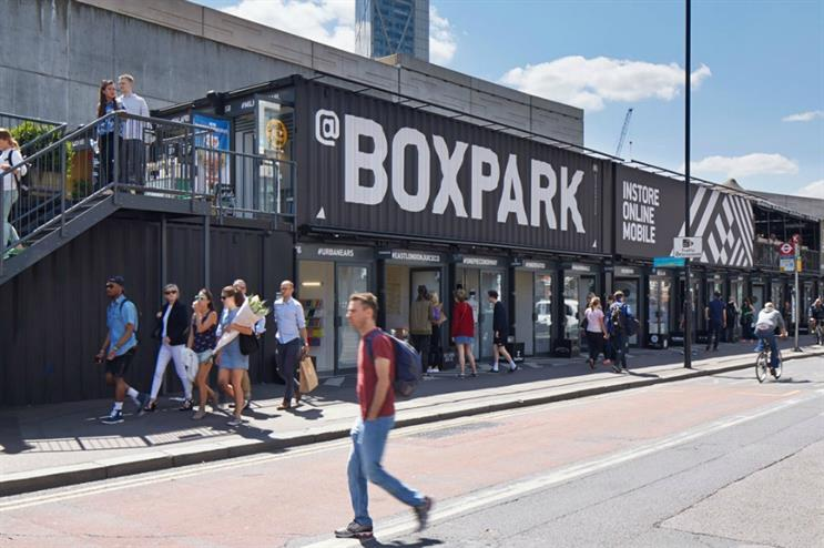 Boxpark Shoreditch: hosting Uber's pool-themed party