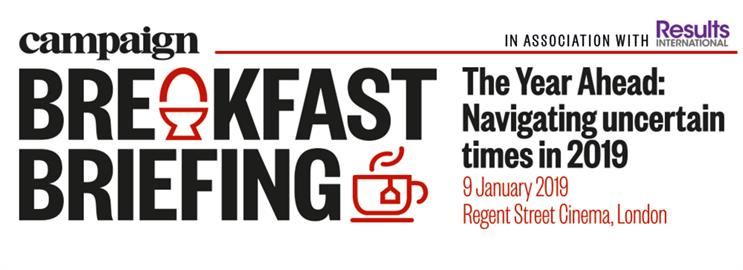 Final tickets remaining for Campaign's Breakfast Briefing on the year ahead