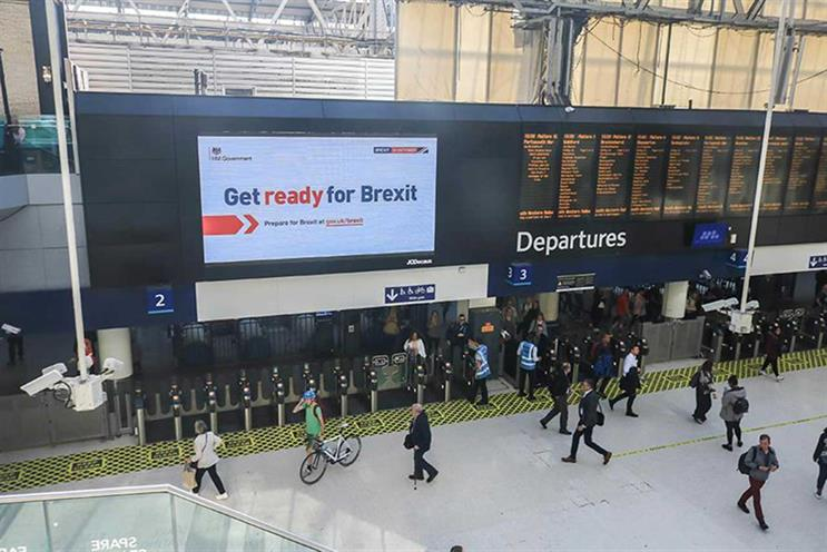 'Get ready for Brexit': out-of-home activity include executions at train stations