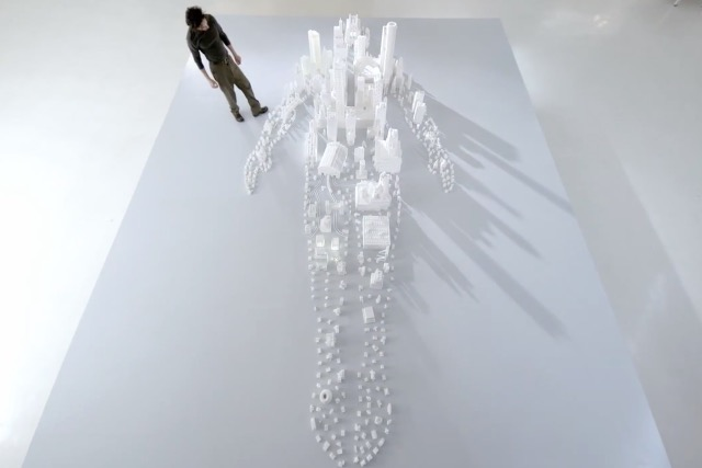 Brita ad: a human body as a city made from 221,314 sugar cubes