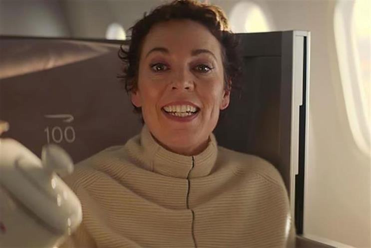 British Airways: Oscar winner Olivia Colman featured in 2019 ad created by Ogilvy
