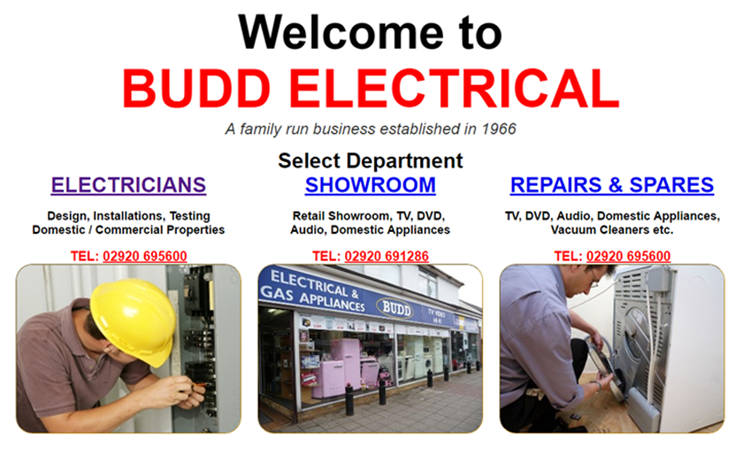 Budd Electrical's website