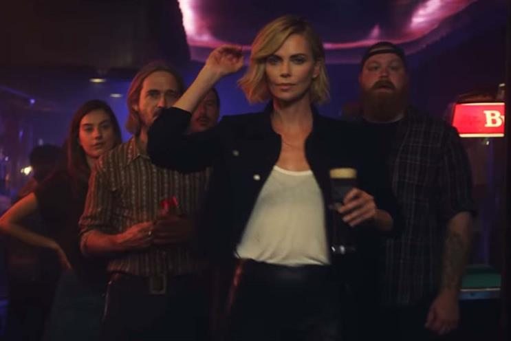 Theron: features in Budweiser spot