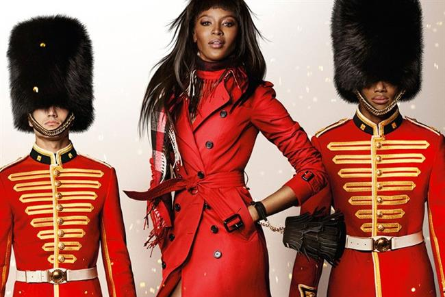 Naomi Campbell: stars in Burberry Christmas campaign
