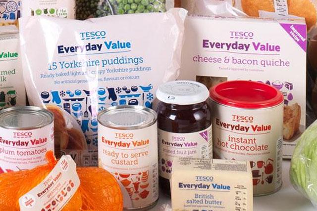 Tesco: Everyday Value range underlines a renewed emphasis on marketing