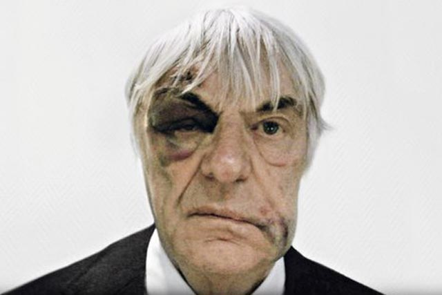Hublot: the Bernie Ecclestone image used in the watchmaker's ad