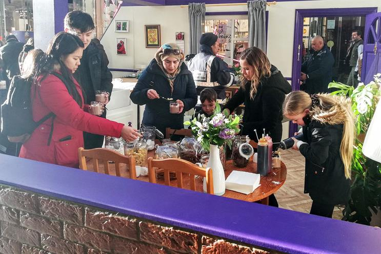 Cadbury: guests can create personalised beverages