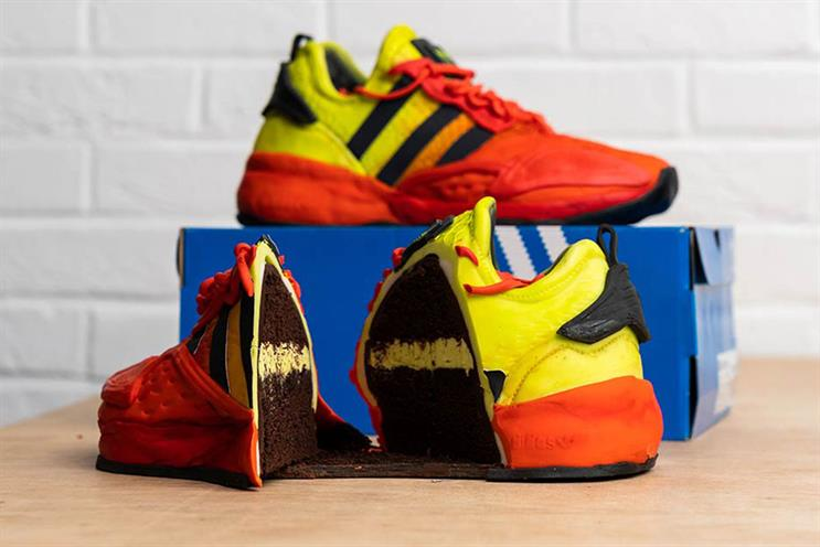 Adidas: winners will receive a real pair of shoes as well as the cake pair