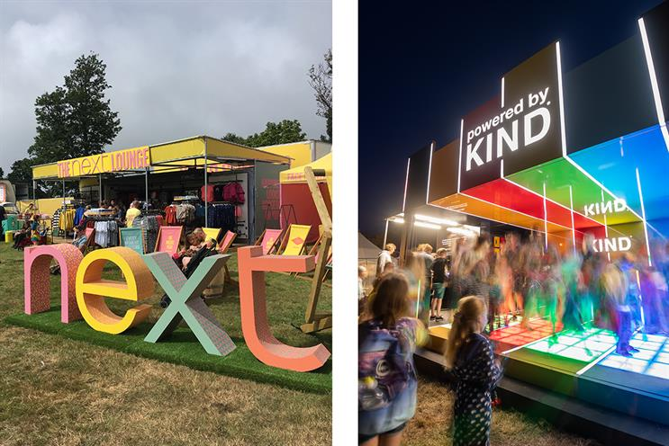 Camp Bestival: activations included Next and Kind