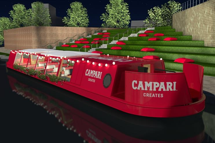 Campari: narrowboat activation